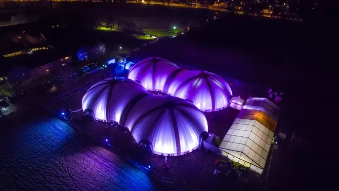780m² Inflatable Scarab Dome
